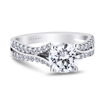 0.38CT, 14k Diamond Engagement Ring