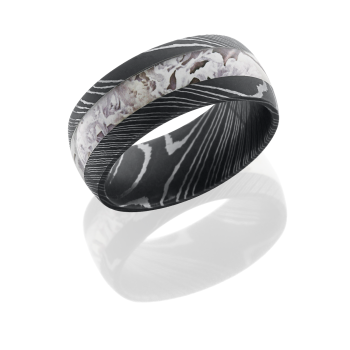 Damascus Steel 9mm domed band