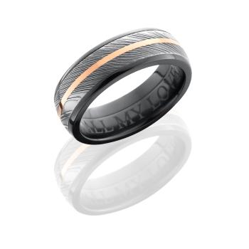 Zirconium 7mm Domed Band