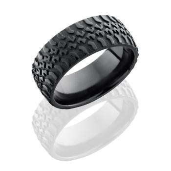 Zirconium 9mm domed band