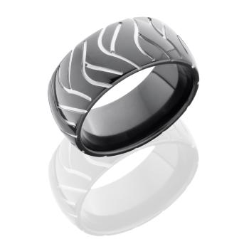 Zirconium 10mm Domed Band
