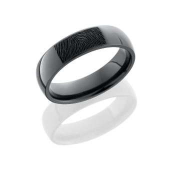 Zirconium 6mm domed band