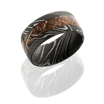 Damascus Steel 10mm Domed Band