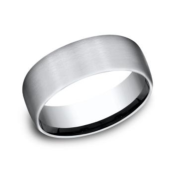 Cobalt Chrome Comfort-Fit Wedding Band