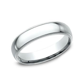 Milgrain Standard Comfort Fit Ring