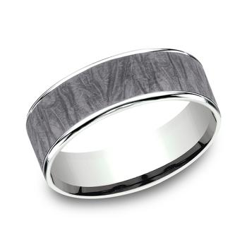 Ammara Stone Comfort-fit Design Wedding Band