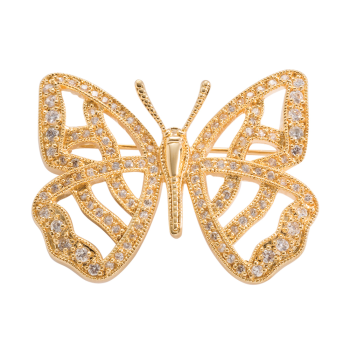 Gold Finish Butterfly Pin