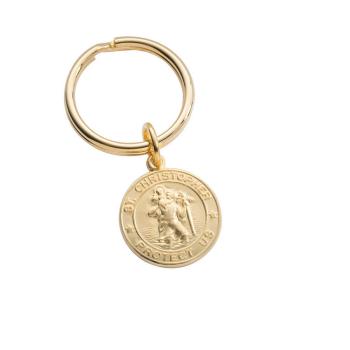 St Christopher Medal Key Ring