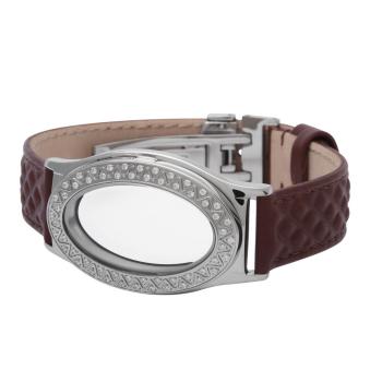 Oval White Topaz Locket Bracelet