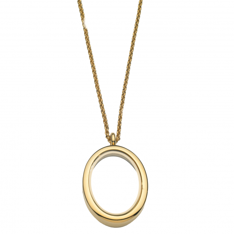 Oval Locket With Chain