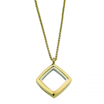 Square Locket With Chain