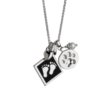Dog Paw With Baby Feet Pendant