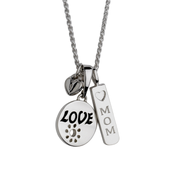 Mom with Love Pendant