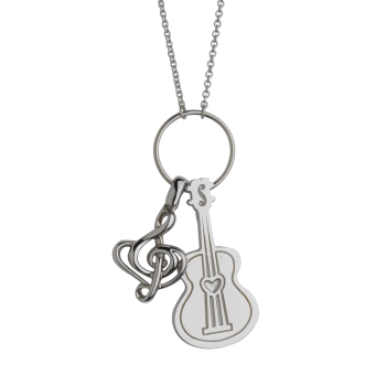 Clef Note And Guitar Pendant