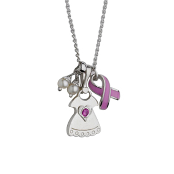 Mom with Sweetheart Birth Gem Girl Pendant