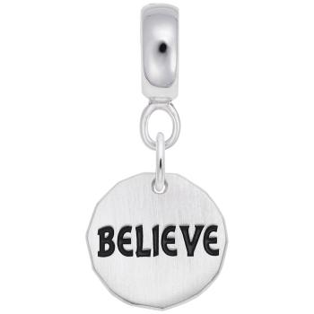 Believe Charm Tag W/9152