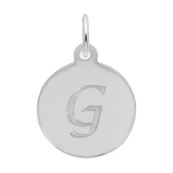 Petite Initial Disc - Script G