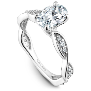 Floral Engagement Ring