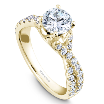 Twist band Engagement Ring