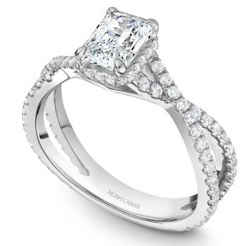 Twist band Engagement Ring