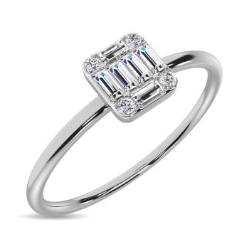 10K White Gold Promise Rings