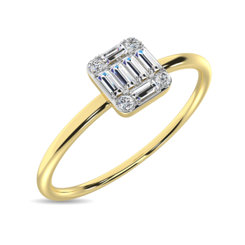 10K Yellow Gold Promise Rings