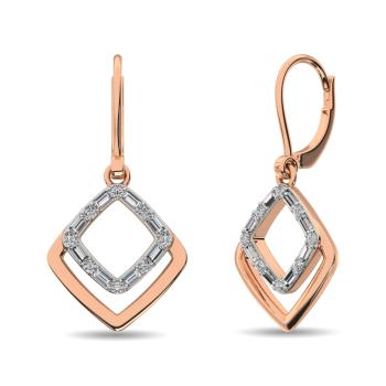 14K Two Tone Fashion Earrings