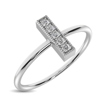 10K White Gold Fashion Rings