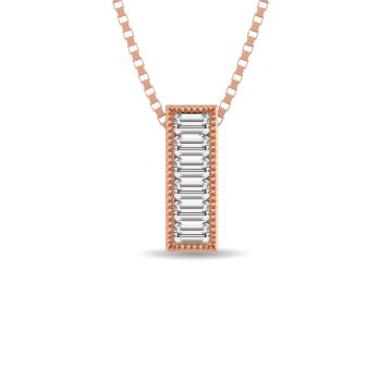 10K Rose Gold Bar Necklaces / Pendants