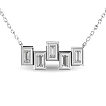 14K White Gold Fashion Necklaces