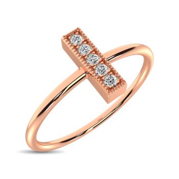 10K Rose Gold Fashion Rings