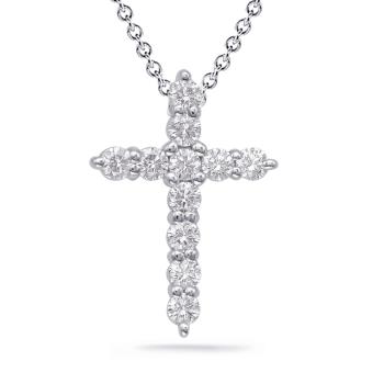 Diamond Cross Shared Prong Set