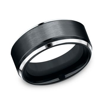 Cobalt Comfort-Fit Design Wedding Band