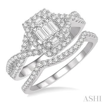 BAGUETTE DIAMOND WEDDING SET