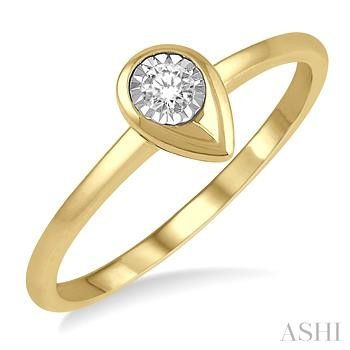PEAR SHAPE DIAMOND PROMISE RING