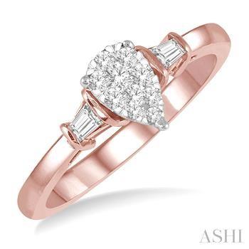 PEAR SHAPE LOVEBRIGHT DIAMOND ENGAGEMENT RING