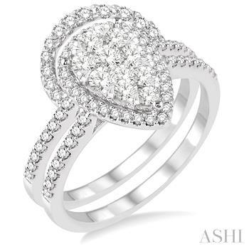 PEAR SHAPE LOVEBRIGHT DIAMOND WEDDING SET