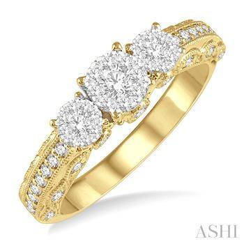THREE STONE LOVEBRIGHT DIAMOND RING