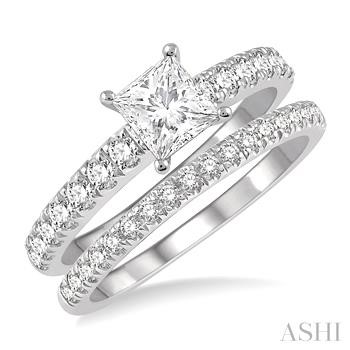 SQUARE SHAPE DIAMOND WEDDING SET