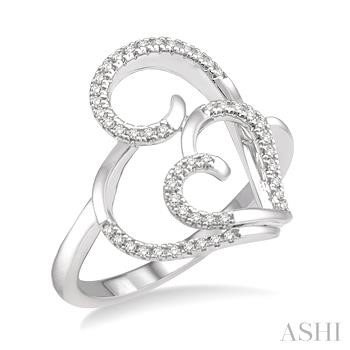 DOUBLE HEART DIAMOND RING