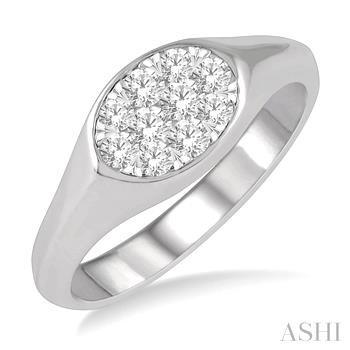 OVAL SHAPE LOVEBRIGHT DIAMOND PROMISE RING