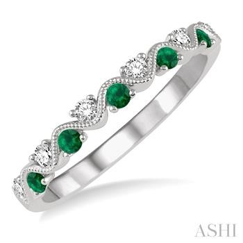 GEMSTONE & DIAMOND STACKABLE RING
