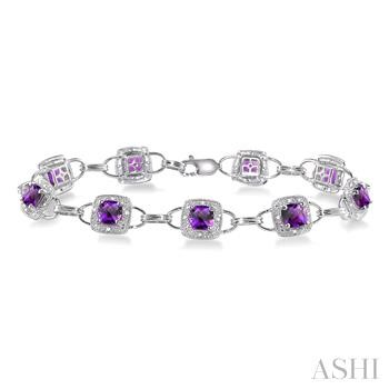 GEMSTONE & DIAMOND BRACELET