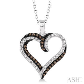 SILVER HEART CHAMPAGNE DIAMOND PENDANT