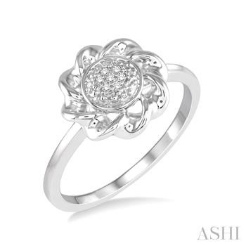 SILVER TWISTED DIAMOND RING