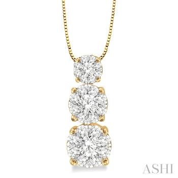 PAST PRESENT & FUTURE LOVEBRIGHT DIAMOND PENDANT