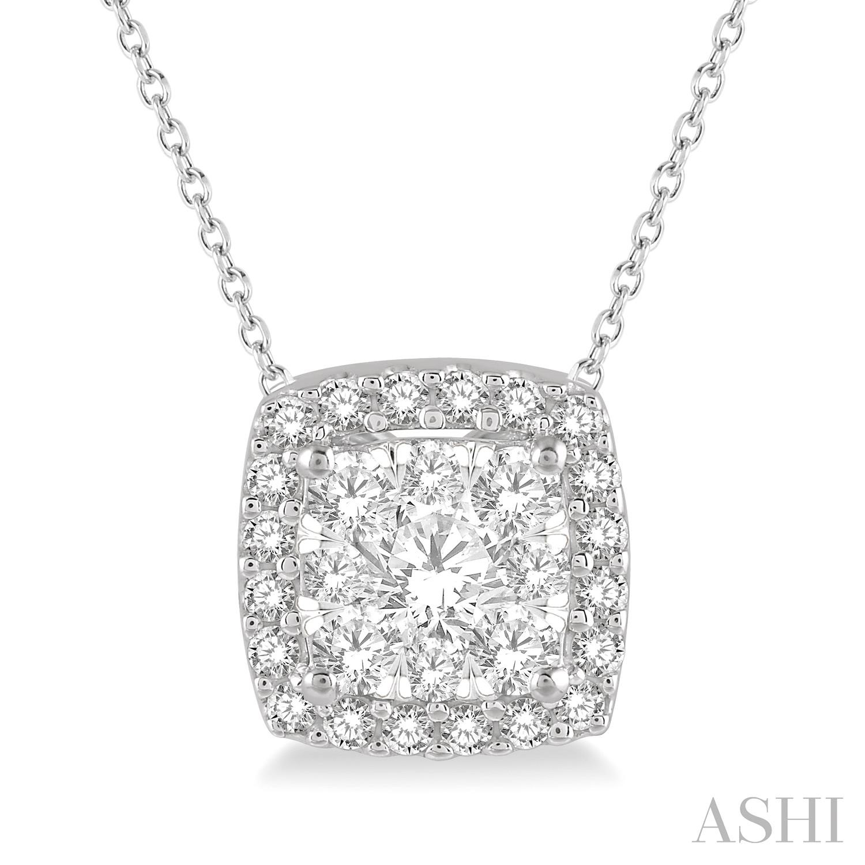 CUSHION SHAPE LOVEBRIGHT DIAMOND PENDANT
