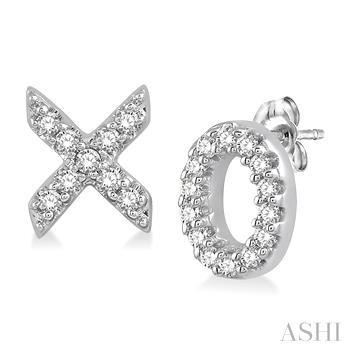 'X' & 'O' SHAPE DIAMOND EARRINGS