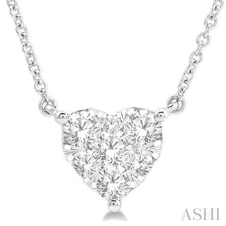 HEART LOVEBRIGHT DIAMOND NECKLACE