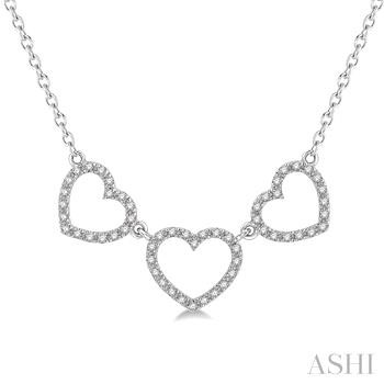 TRI HEART DIAMOND NECKLACE